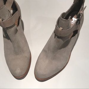 Joe's suede and leather booties. Light grey.